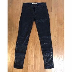 J Brand denim skinny pants with snake foil